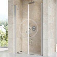 Sprchové dveře dvoukřídlé CSDL2-120, 1175-1205 mm, satin/čiré sklo