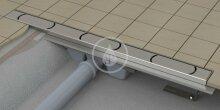 Sprchový odtokový žlab 850 mm, do prostoru, nerez