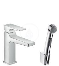 Hansgrohe Metropol Sada ruční bidetové sprchy 1jet a umyvadlové pákové baterie, chrom 32522000
