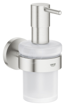 Grohe Essentials Dávkovač tekutého mýdla s držákem, supersteel 40448DC1