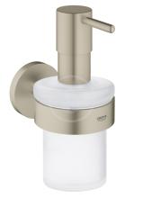 Grohe Essentials Dávkovač tekutého mýdla s držákem, kartáčovaný nikl 40448EN1