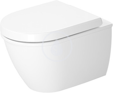 Závěsný klozet Compact, 360 mm x 485 mm, bílý - klozet, s WonderGliss