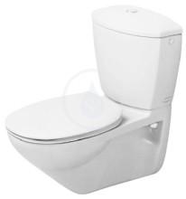 WC mísa kombi Practica-Cascade, závěsná, s WonderGliss, bílá