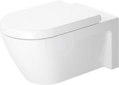 Závěsný klozet, 375 mm x 620 mm, bílý - klozet