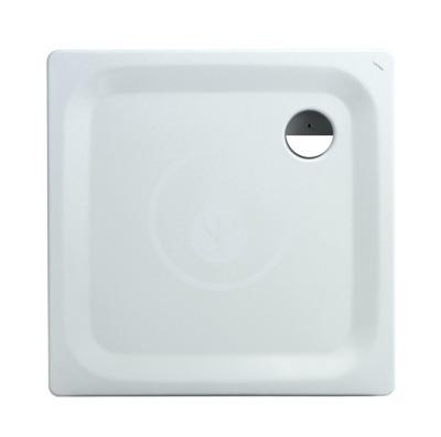 Sprchová vanička, 900 x 900 mm, ocel - s protihlukovými podložkami, bílá