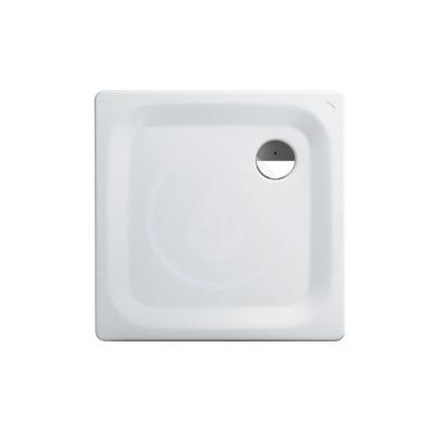 Sprchová vanička, 800 x 800 mm, ocel - s protihlukovými podložkami, bílá