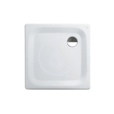 Sprchová vanička, 800 x 800 mm, ocel - s protihlukovými podložkami, bílá/antislip