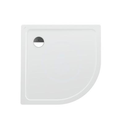 Sprchová vanička čtvrtkruh, 1000 x 1000 mm - s protihlukovými podložkami, bílá/antislip