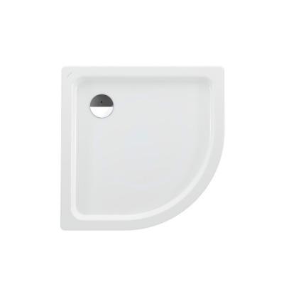 Sprchová vanička čtvrtkruh, 900 x 900 mm - s protihlukovými podložkami, bílá/antislip