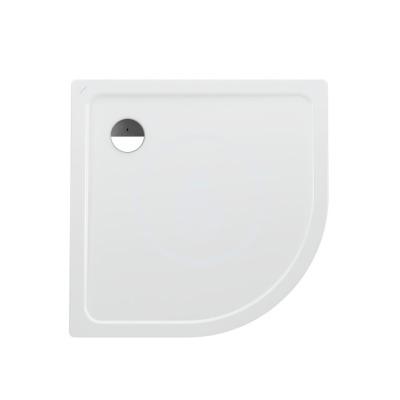 Sprchová vanička čtvrtkruh, 900 x 900 mm - s protihlukovými podložkami, bílá