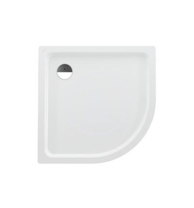 Sprchová vanička čtvrtkruh, 1000 x 1000 mm - s protihlukovými podložkami, bílá