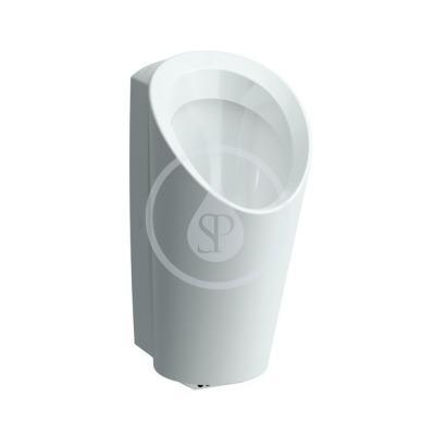 Urinál se senzorem, 347 x 400 mm, bílá - s přípojením na odpad průměr 50 mm