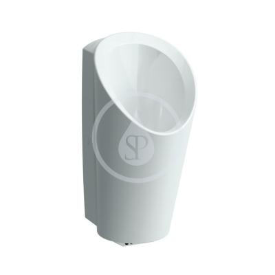 Urinál bez senzoru, 347 x 400 mm, bílá - s přípojením na odpad průměr 50 mm