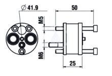 Laufen Prodlužovací set pro montážní těleso Simibox, 1-bodové H3769840001251