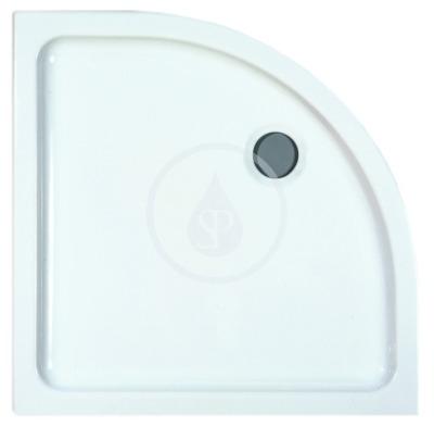 Sprchová vanička, 900x900 mm, AntiSlip, bílá
