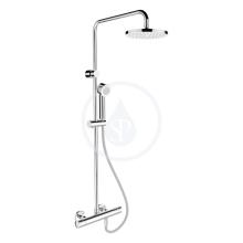 Sprchový systém s termostatickou baterií, chrom