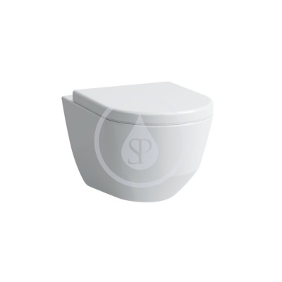 Závěsné WC Compact, 490x360 mm, rimless, s LCC, bílá
