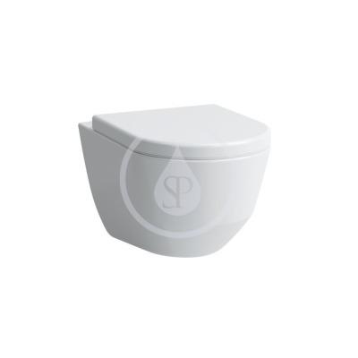 Závěsné WC, 530x360 mm, rimless, s LCC, bílá
