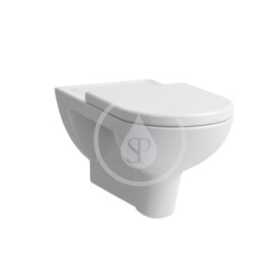 Závěsné WC, 700x360 mm, s LCC, bílá