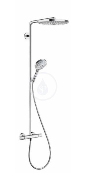 300 2jet Showerpipe, bílá/chrom