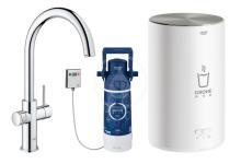 Grohe Red Dřezová baterie Duo s ohřevem vody a filtrací, zásobník M, chrom 30083001
