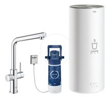 Grohe Dřezová baterie Duo s ohřevem vody a filtrací, zásobník M, chrom 30327001