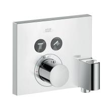 Axor Termostat pod omítku Square pro 2 spotřebiče s jednotkou FixFit a držákem, chrom 36712000