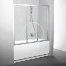 Vanové dveře třídílné AVDP3-120, 1170-1210 mm, satin/sklo Grape