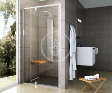 Sprchové dveře PDOP2-110, 1061-1111 mm, satin/čiré sklo