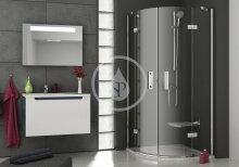 Čtvrtkruhový sprchový kout SMSKK4-80, 785-800 mm, rádius 500 mm, transparentní sklo/chrom