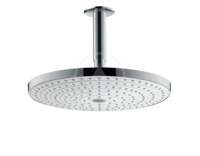 Horní sprcha 300 2jet s přívodem od stropu 100 mm, bílá/chrom