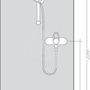 Combi 0,65 m s ruční sprchou Raindance Select E 120 3jet, chrom