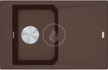 Franke FX Fragranitový dřez FXG 611-78, 780x500 mm, tmavě hnědá 114.0540.829