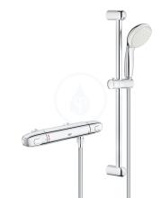 Sprchový set s termostatem na zeď, chrom