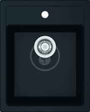 Franke Sirius Tectonitový dřez SID 610-40, 430x530 mm, černá 114.0503.041