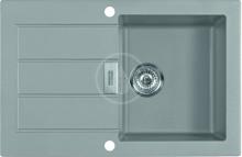 Franke Sirius Tectonitový dřez SID 611-78, 780x500 mm, šedá 114.0494.830