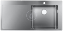 Hansgrohe Vestavný dřez S715-F450, nerezová ocel 43306800