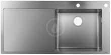 Hansgrohe Dřezy Vestavný dřez S717-F450, nerezová ocel 43307800
