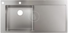 Hansgrohe Vestavný dřez S718-F450, nerezová ocel 43332800
