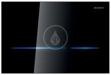 Geberit Elektronické ovládací tlačítko Sigma80, bezdotykové, pro 2 množství splachování, sklo černé 116.090.SG.1