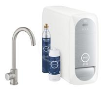 Grohe Blue Home Dřezový ventil Mono Connected, s chladícím zařízením a filtrací, supersteel 31498DC1