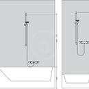 Sprchová souprava 1jet Green 6 l/min. Unica, 650 mm, bílá/chrom