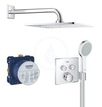 Sprchový set Perfect s podomítkovým termostatem, 254 mm, chrom