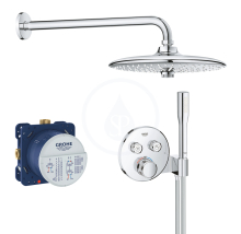 Sprchový set Perfect s podomítkovým termostatem, 260 mm, chrom