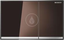 Ovládací tlačítko Sigma60, hnědé sklo