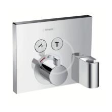 Termostat pod omítku pro 2 spotřebiče s držákem Porter a FixFit, chrom