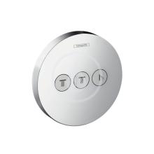 Hansgrohe Shower Select Uzavírací a přepínací ventil pod omítku pro 3 spotřebiče, chrom 15745000