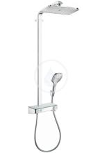 Hansgrohe Raindance Select E Sprchový set Showerpipe 360 s termostatem ShowerTablet, EcoSmart 9 l/min, chrom 27287000