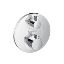 Hansgrohe Ecostat S Termostatická sprchová baterie pod omítku s uzavíracím ventilem, chrom 15757000