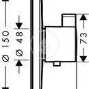 Highflow termostatická baterie pod omítku, chrom